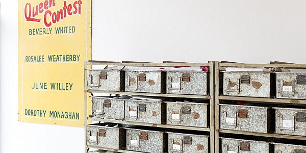 Stylist Home Office To Give Comfort For You : Vintage Organization Bins