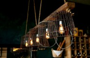 Creative DIY Lamp Design From Second Hand Items : Vintage Wire Baskets Turned Into Light Fixtures