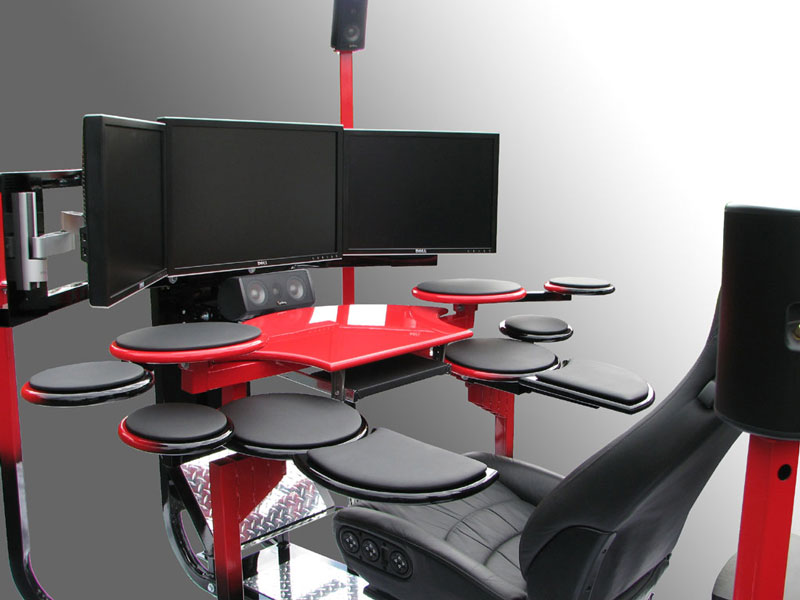 Computer Workstation Ideas, Do Not Be Afraid To Be Creative : Vision One Ergonomic And Modern Chair And Computer Workstation