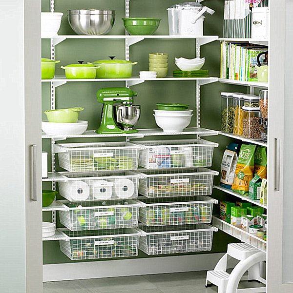 Fine Designed Pantry Shelving Ideas With Lively Design: Walk In Pantry Organizational System