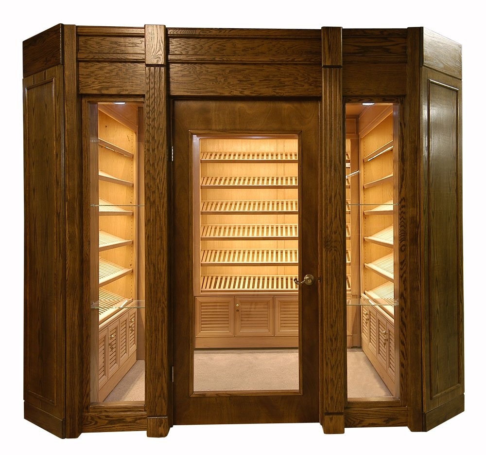 Unique Wine Humidor From Wooden Material : Walk In Wine Humidor Wood Made Modern Design Wine Humidor