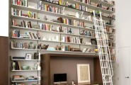 Wall Bookshelf With A Unique Touch : Wall Bookshelf