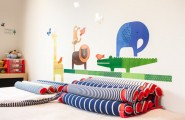 Fantastic Homey Contemporary Apartment Drive You Endure Staying There : Wall Decals Bring A Fun Vibe To The Kids Bedroom