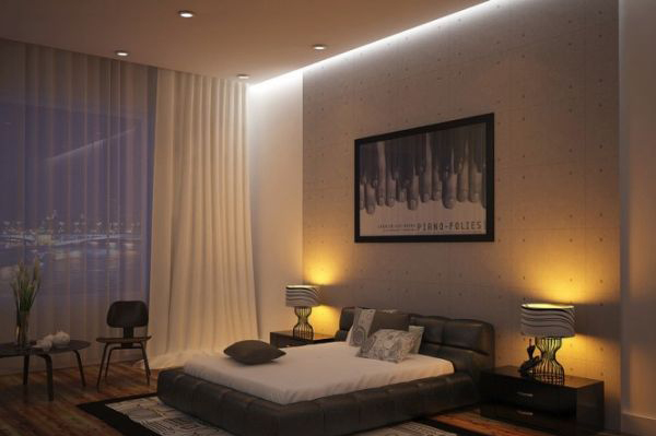 Charming Asian Modern Interiors: Warm And Inviting Bedroom Offers Both Lovely Views And Ample Privacy