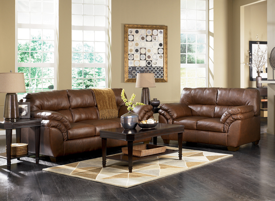 Brown Sofas Filling A Modern Style Living Room : Warren Brown Sofa