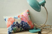 Striking Floral Patterns (12 Ideas) : Watercolor Inspired Floral Pillow Color