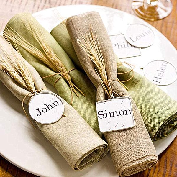 Buffet Table Decorating Ides Using Sweets : Wheat Stalk Place Settig