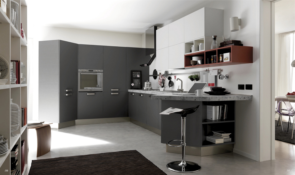 Open Kitchens With Modern Design Ideas: White And Grey Ktichen Ideas