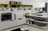 Open Kitchens With Modern Design Ideas : White And Yellow Wood Kitchen