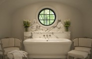 Brilliant Contemporary Designs Ideas For Home And Interior : White Art Deco Bathroom
