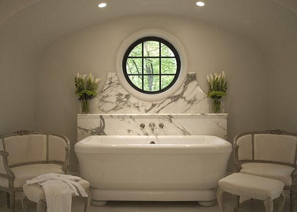 Brilliant Contemporary Designs Ideas For Home And Interior: White Art Deco Bathroom