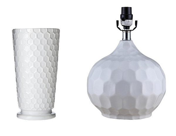 Stylish Highlight Of 12 Honeycomb Pattern : White Ceramic Honeycomb Decor