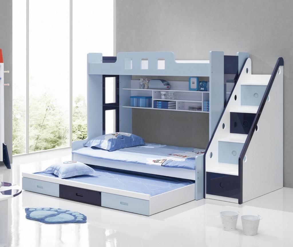 Children's Bunk Beds Safety Rules: White Color Bunk Beds Design Ideas