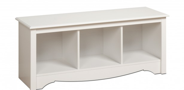 Cubby Bench, Doubled The Function : White Cubbie Bench