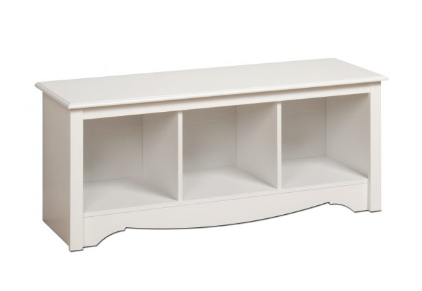 Cubby Bench, Doubled The Function: White Cubbie Bench ~ stevenwardhair.com Tips & Ideas Inspiration