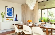 Fascinating Dining Room Decoration Offers Comfort Taste : White Dining Room With Modern Elements