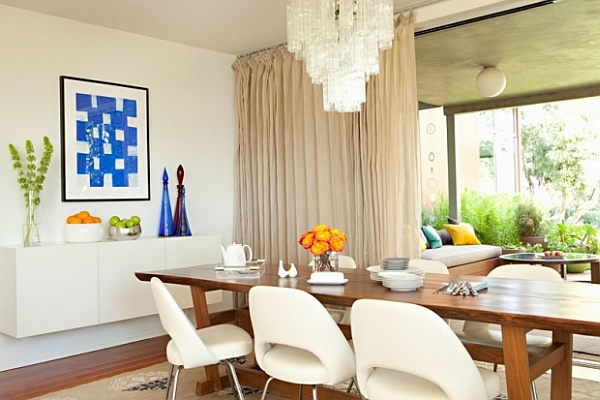 Fascinating Dining Room Decoration Offers Comfort Taste: White Dining Room With Modern Elements