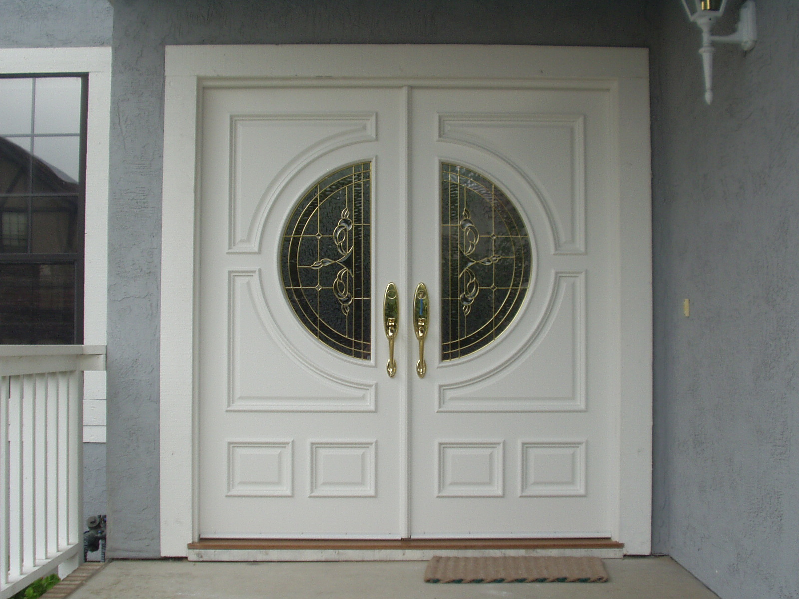 Inspiring Double Entry Doors For Home With Clear Design: White Double Entry Doors