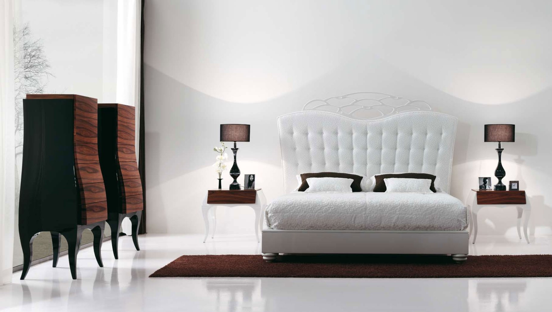 Peaceful Feng Shui Bedroom As Your Real Comfort : White Elegant Feng Shui Bedroom