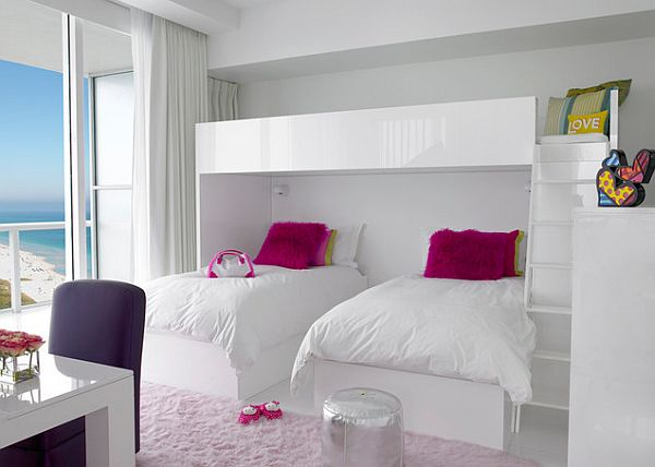 Imaginative Kids Bedrooms: 18 Inspiring Designs: White Glossy Kids Bedroom Furniture