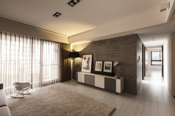 Amazing Interior Design With Soothing Ambience: White Grey Living Room Cream Carpet Taiwanese Interior Design ~ stevenwardhair.com Interior Design Inspiration
