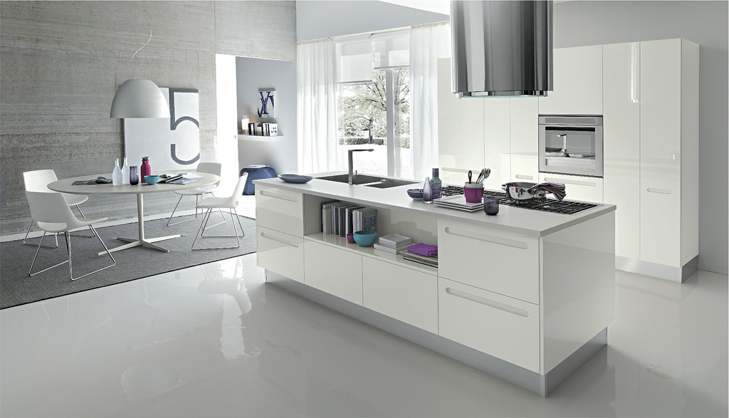 Open Kitchens With Modern Design Ideas: White Ktichen Design