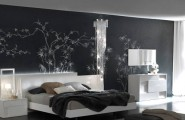 Italian Modern Bedroom Furniture With Aesthetic Drawing : White Lacquer Bedroom Set