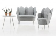 Astonishing Contemporary Chair Resembling The Blooming Flower : White Morning Dew Contemporary Chair And Sofa Design