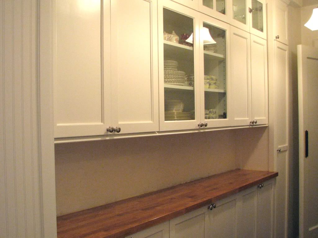 Do Up Your Kitchen With Well Designed Butcher Block Countertops From Ikea: White Pantry