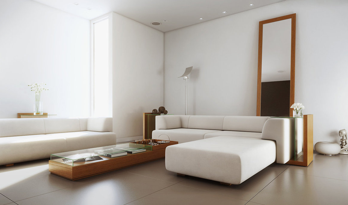 Stylish Living Room Designs Comes With The Interesting Idea: White Simple Living Room