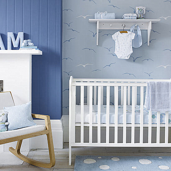 Creative Nursery Decor Ideas For Baby`s Real Comfort : White Theme Baby Boy Nursery Design Ideas