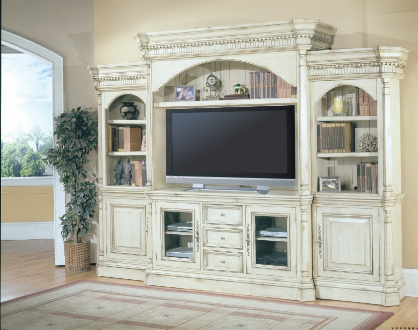 Excellent White Washed Furniture For Your Aesthetic Home: White Washed Entertainment Centers