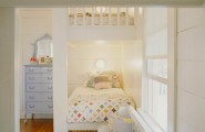 Aesthetic Neutral Bedroom Ideas With Striking Design : White Wood Shared Kids Bedroom