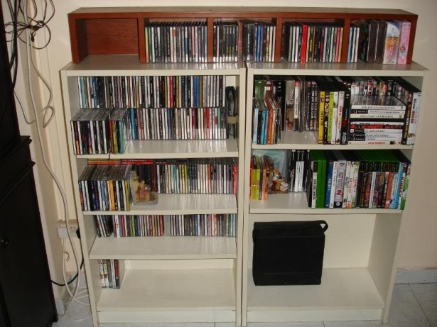 Sophisticated Cabinet Computer Cd Rack Provides Ideal Space For Device: White Wooden Glossy Finish Cabinet Computer Cd Rack ~ stevenwardhair.com Desks Inspiration