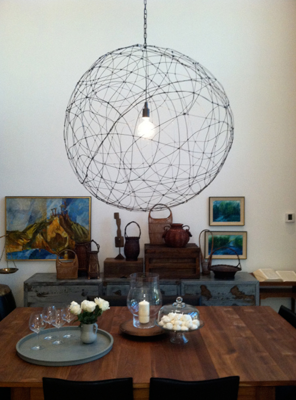 DIY Modern Lamp Design Comes With The Amazing Idea: Wire Hanging Lamp DIY