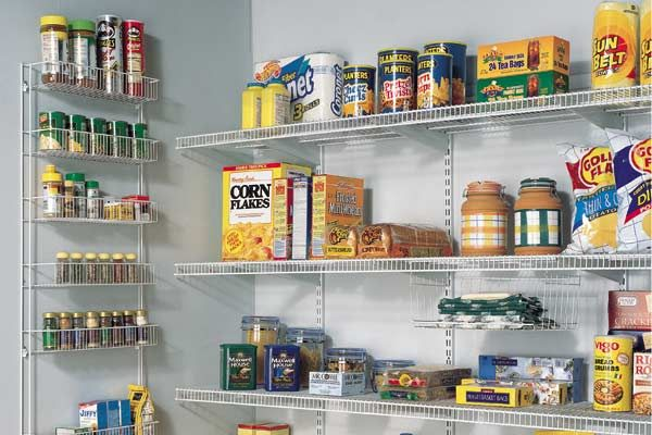 Fine Designed Pantry Shelving Ideas With Lively Design : Wire Shelving In A  Kitchen Pantry