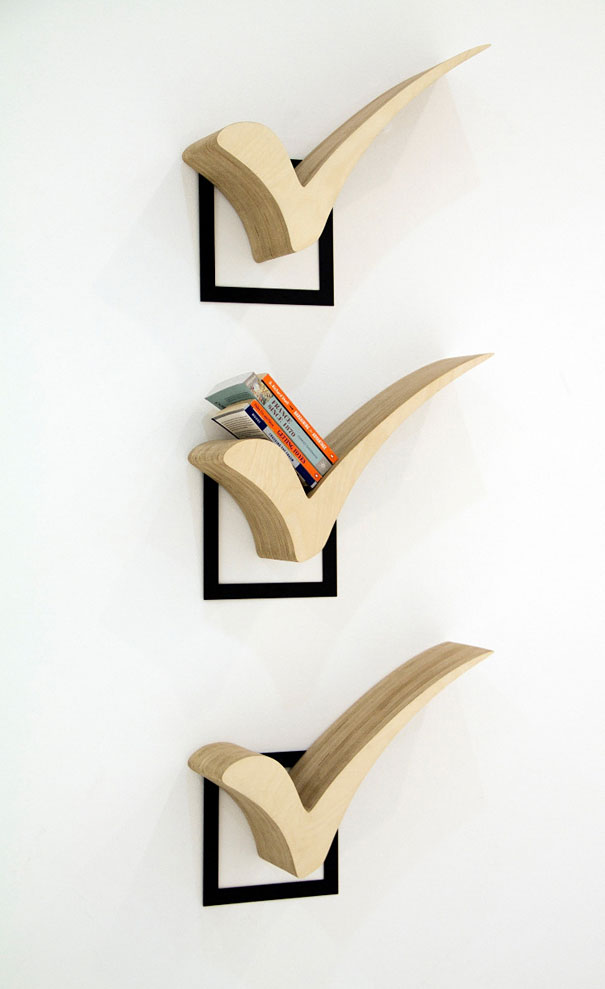 Bookshelf Design For Modern Interior Design: Wodden Material Check Creative Bookshelves Light Books Square Background