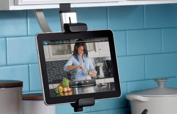 Simple Kitchen Gadget To Ease You Cook: Wonderful Belkin Kitchen Cabinet Tablet Mount Used Modern Decoration Ideas