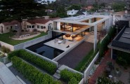 Great Modern House Design With Luxurious Plan Ideas : Wonderful Cresta Residence From The Air With Many Glass Windows