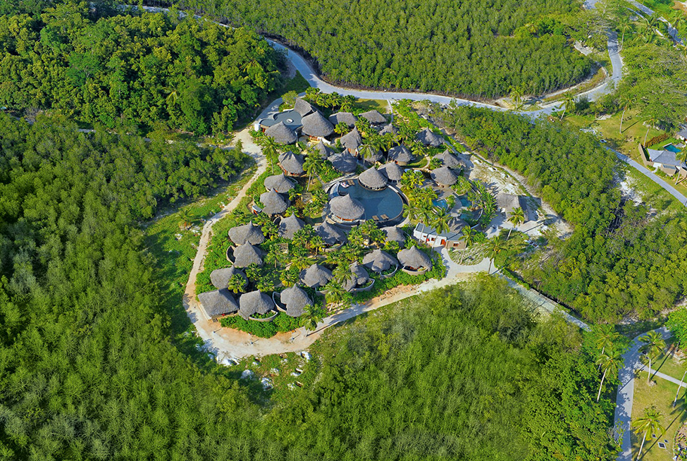 Beautiful Luxurious Resort With Beautiful Natural Views : Wonderful Green Ephelia Constance Resort View Seen From The Top