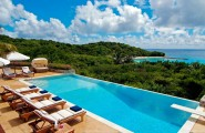 Large Infinity Pool In Your House : Wonderful Large Infinity Pool Overlooking Blue Sea View Coast Hotel Exterior