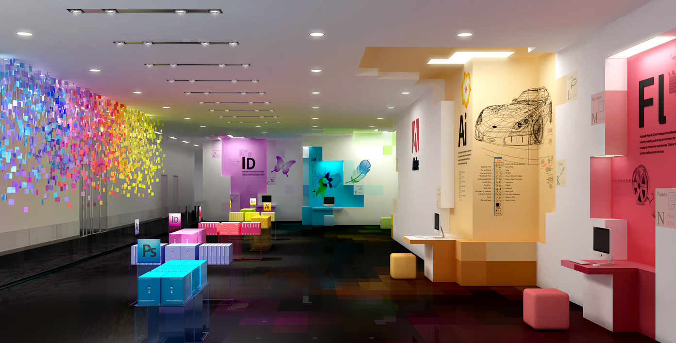 Office Interior Designs, Employee Happiness, And Productivity: Wonderful Lighting Office Interior Great Adobe Office Interior Designs