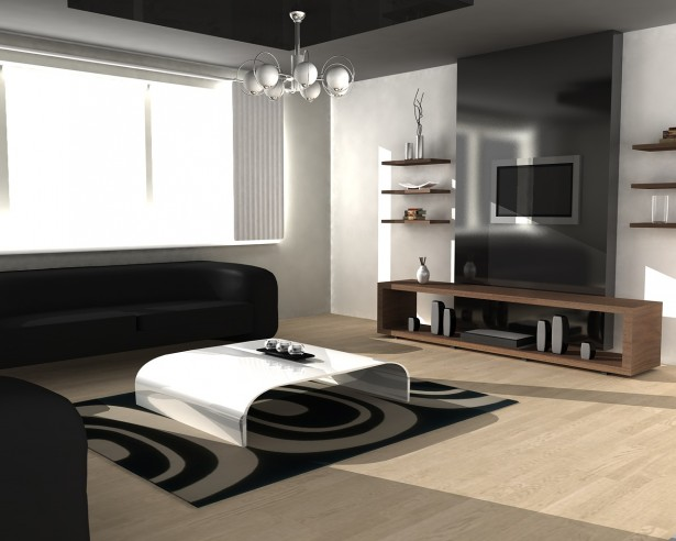Luxurious Small Living Room Ideas With Simple Decoration: Wonderful Minimalist Small Living Room Ideas Wooden Floor Black Sofa ~ stevenwardhair.com Living Room Design Inspiration