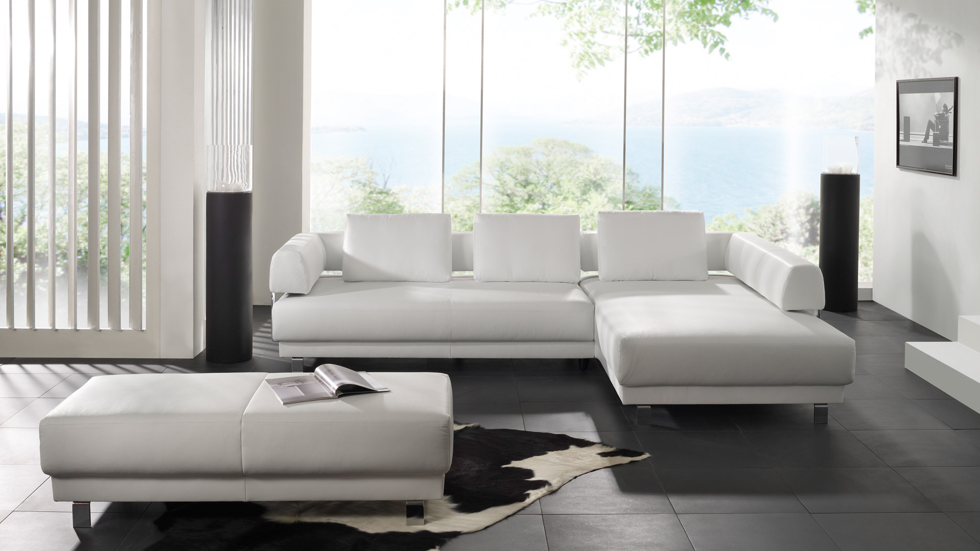 Schillig Sofa Perfect Furniture In A House Or In An Office: Wonderful Modern Style Minimalist White Schillig Sofa Design Ideas