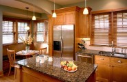 Impressive Modern Window Blinds With Multi Function : Wonderful Modern Window Blinds Wooden Kitchen Traditional Design