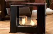 Practice Portable Fireplace For Your Activities : Wonderful Portable Fireplace Black Color Artistic Design Ideas