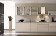 Sparkling Kitchen Cabinet Designs With Glass Doors : Wonderful Use Of Glass In A Black And White Kitchen