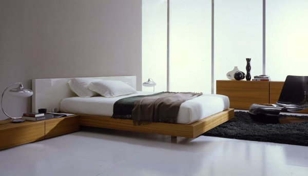 Italian Modern Bedroom Furniture With Aesthetic Drawing : Wooden Bedroom Set