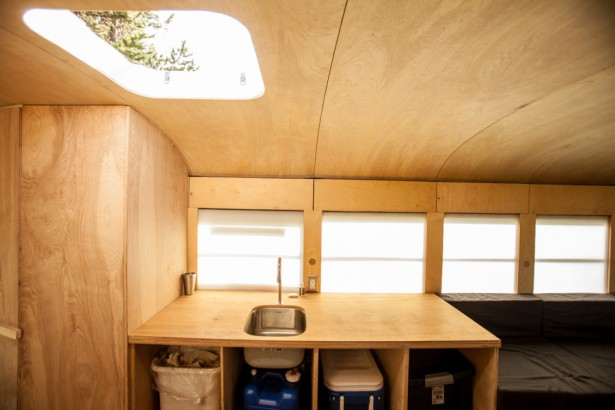 Gorgeous Ideas To Renovate Your Mobile Home: Wooden Interiors Of The Restored Bus Home By Hank Butitta ~ stevenwardhair.com Tips & Ideas Inspiration