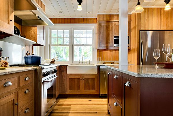 Simple Elegant Knobs And Pulls For Kitchen Cabinets : Wooden Kitchen With Elegant Knobs